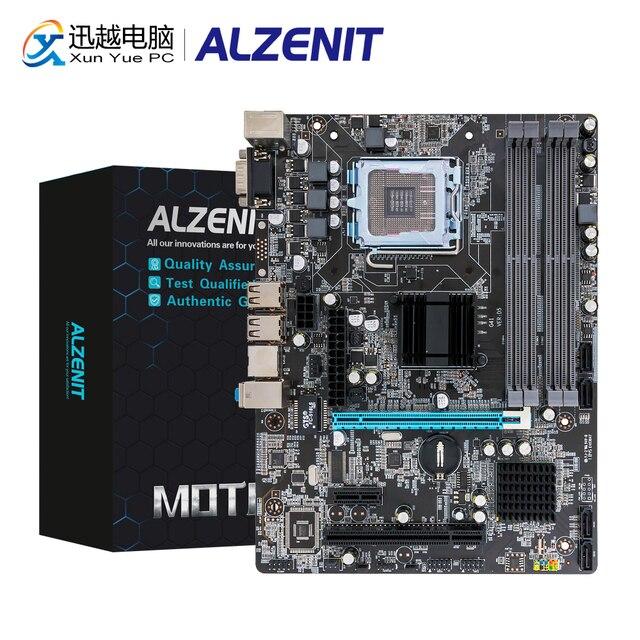 ALZENIT P45M-D2 Motherboard P45 ICH7 LGA 771 775 DDR2 8GB SATA2.0 USB2.0 PCI COM M-ATX 100M Server Mainboard