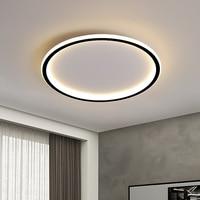Lámpara de techo Led moderna para sala de estar, accesorio de iluminación con aplicación de Control remoto regulable, redondo, nórdico, ultrafino, para dormitorio y oficina
