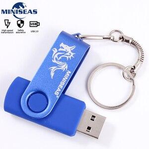 Usb Flash Drive 9 colors Miniseas Dragon Mini 128 Pen Drive 32 Memory cle 64GB Usb Stick 2.0 Pendrive with key ring