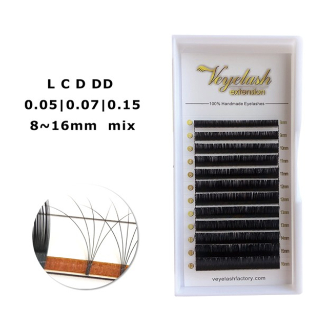 Veyelash L C D DD Curl 8-16 Mix Russian Volume Eyelash Extension Silk Cilios Mink Lashes Wholesale Price Private Packages Lashes 1