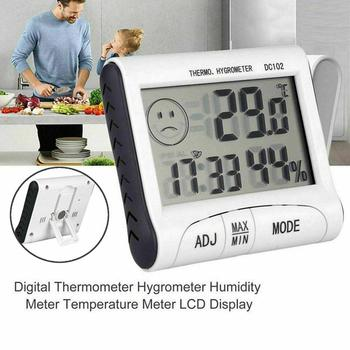 Thermometer Hygrometer Gauge Indicator Indoor/Outdoor Weather Station Automatic Electronic Temperature Humidity Monitor image