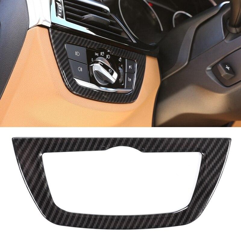Auto Koplamp Schakelaar Knop Frame Trim Cover Voor Bmw 5 Serie G30 528Li 530Li 2018 2019 Auto Accessoires-in Automotieve Interieur Stickers van Auto´s & Motoren op title=