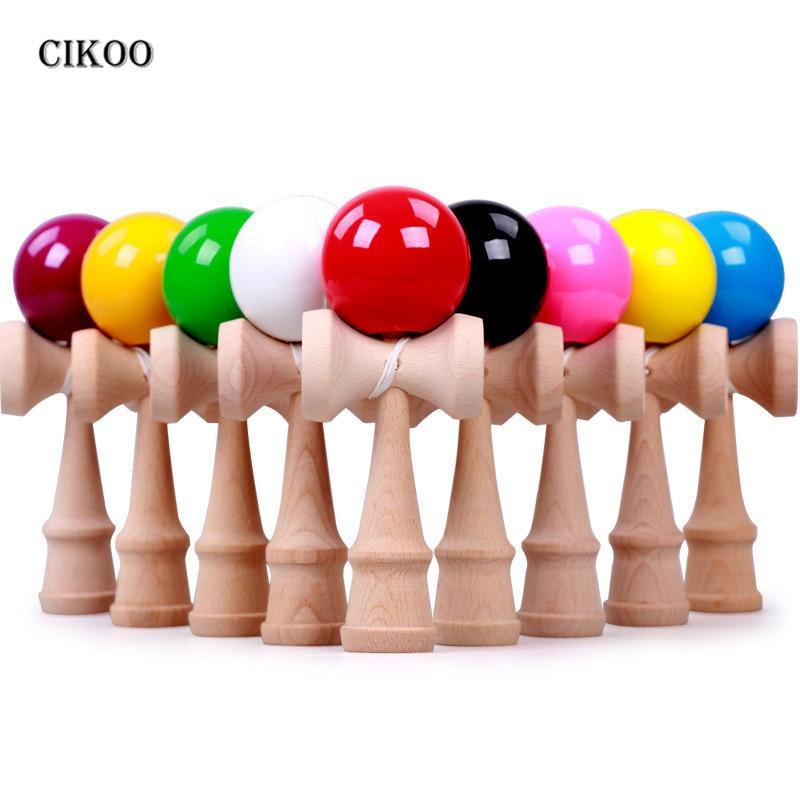 Japanese Traditional Skillful Juggling Wood Game Balls Kids Wooden Kendama Coordinate Ball Bilboquet Skill Educational Toys Gift