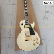 China oem fábrica marca creme cor guitarra elétrica