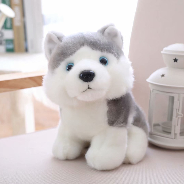 18/23/28cm Cute Simulation Puppy Dog Plush Toy Kids Dolls Husky Akita Saint Bernard Stuffed Soft Toys for Children High Quality