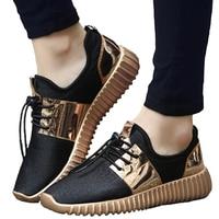 Сетчатые кроссовки на шнуровке, Мужская Вулканизированная обувь, дышащие черные повседневные кроссовки, мужская обувь размера плюс, обувь ...