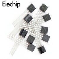 10 pces ds18b20 to-92 chip de sensor de temperatura 18b20 to92 para arduino termômetro digital ds18b20 salão sensor kit eletrônico diy