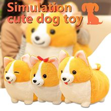 Cute Short-legged Corgi Doll Ornaments Fat Corgi Plush toy Pillow Gift Lovely Christmas Gift for Kids Kawaii Valentine Present(China)