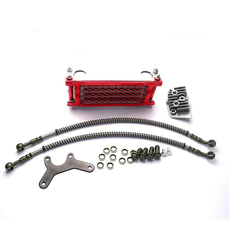 Радиатор для мотоциклетного масляного охлаждения, красный радиатор для питпро-байка, квадроцикла, 50 70 90 110CC 125cc 140cc Pitpro Pitster Pro SDG DHZ SSR