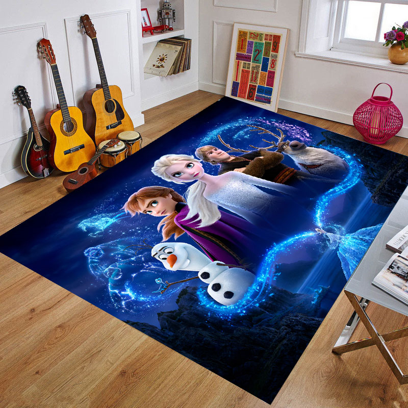 Cartoon Frozen Baby Play Mat Toys For Children's Mat Kids Rug Playmat Developing Mat Rubber Kids Rug Home Carpet  Birthday Gift