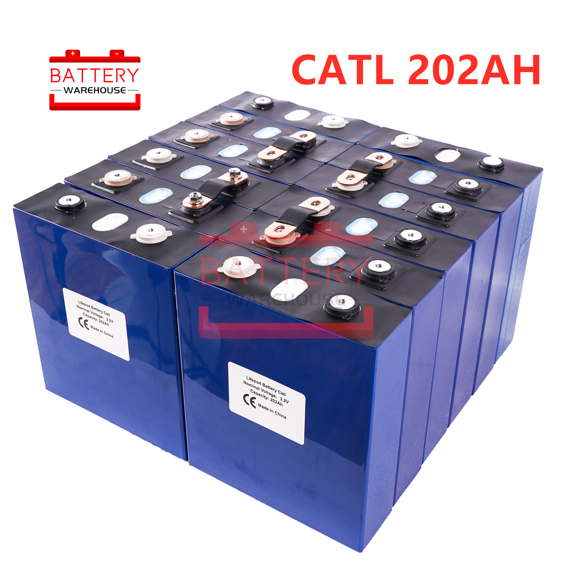 16 pièces CATL LIFEPo4 batterie 3.2v200AH 2019 nouvelles piles rechargeables cellule pour 48V200AH pour RV SOLAR EV Marine ue US taxe sans tva