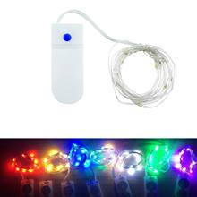 3 modos À Prova D' Água LEVOU Luzes de Fadas String Fio Mirco гирлянда Energia Da Bateria Branco Quente Guirlanda Para Decoração Festa de natal