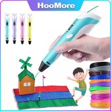 Hot 3D Pen LED Screen DIY 3D Printing Pen PLA Filament Creative Toy Gift For Kids Design Drawing 3D Printer Pen Drawing Stift