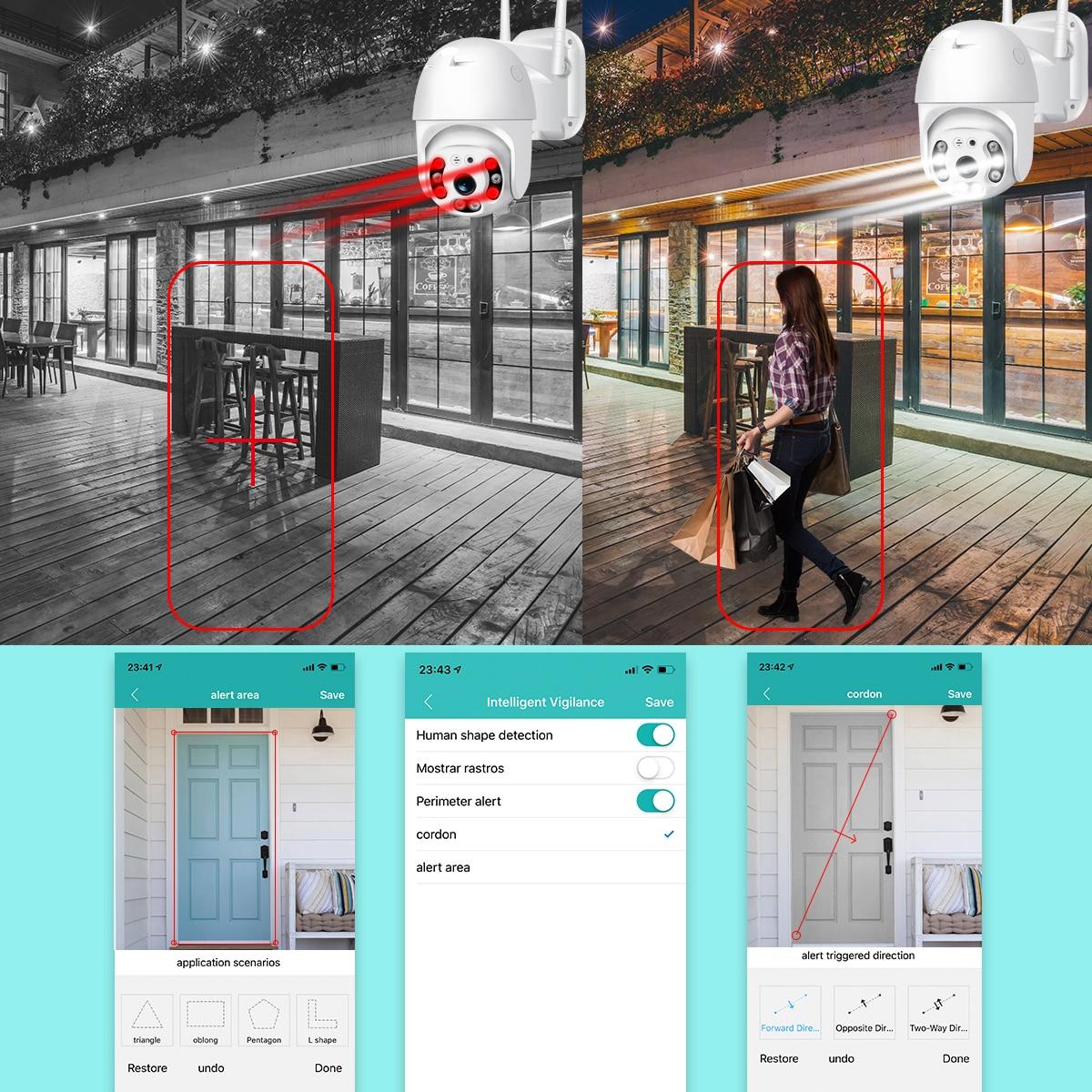 H6f5d0a302b8743ee9aab87e9acc5758aY BESDER H.265 PTZ IP Camera 2MP WiFi Cloud Storage Motion Voice Alert Dual Antenna Dual IR Light PTZ Security Surveillance Camera