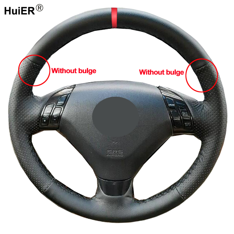 Hand Sewing Auto Car Steering Wheel Cover Wrap For Honda Accord 7 Coupe 2003 2004 2005 2006  2007(3-Spokes) Without Bulge Volant