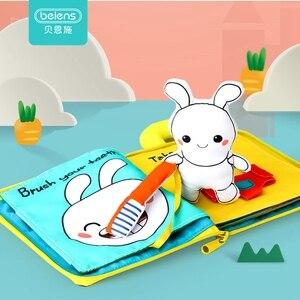 Image 1 - Beiens 3D paño suave para bebé libros animales y vehículo Montessori juguetes de bebé para niños pequeños desarrollo de inteligencia juguetes educativos regalos