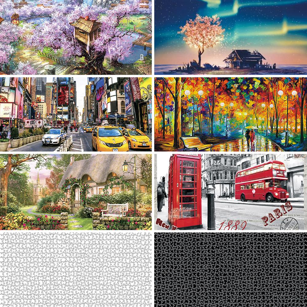 1000 Pieces Puzzles For Adult Wooden Assembling Puzzles Toys For Adults Children Games Educational Toys High Quality