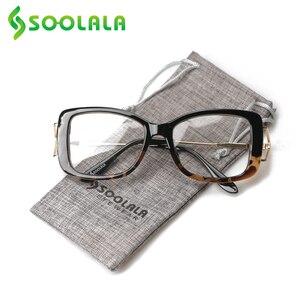 Image 3 - SOOLALA lunettes de lecture carrées pour femmes et hommes, monture à la mode, grossissant presbytes, + 0.5 à 4.0