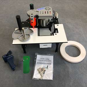 Edge-Banding-Machine Woodworking with Fixed-Length Trimming End-Cutting Functions Curved-Rotation