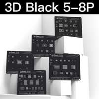 3D Schwarz BGA Reballing Stencil kit für iPhone 8 P/8/7 P/7/6SP/ 6 S/6 P/6/5 S/5 Kommunikation Basisband Modul Zinn Pflanzung Platte