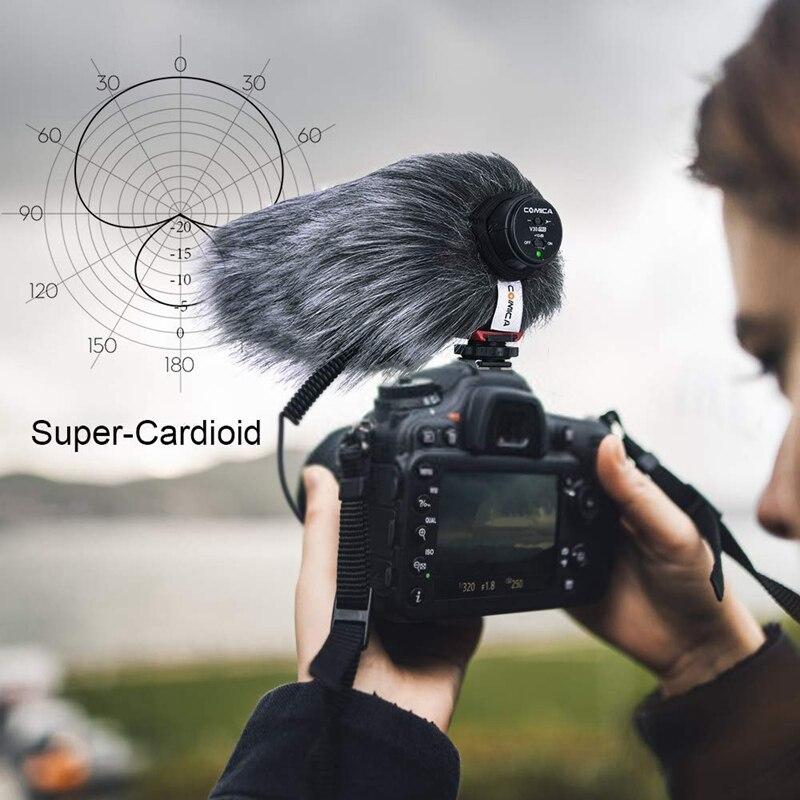 Comica CVM-V30 PRO накамерный микрофон, супер-кардиоидный конденсаторный микрофон с разъемом 3,5 мм, микрофон для видео интервью для Canon