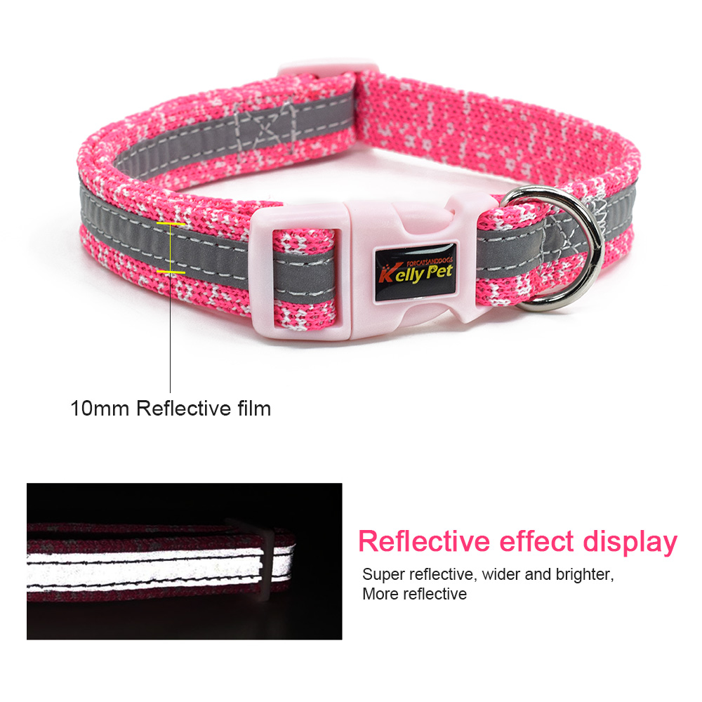 Collar For Dogs Nylon Braid belt Reflective Breathable Adjustable Collars For Small Medium Dogs Pet Supplies