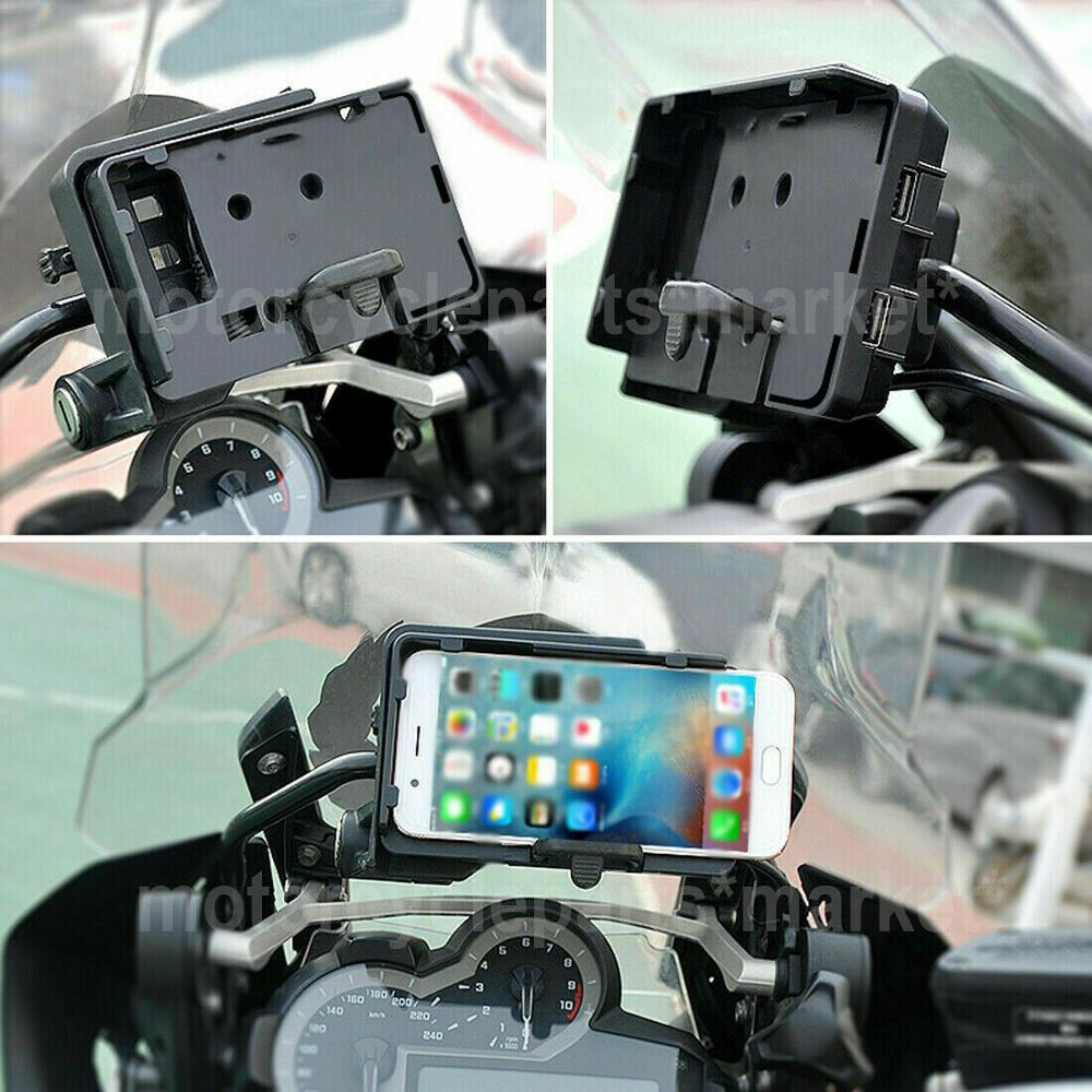 Image 5 - Mobile Phone USB GPS Navigation Bracket USB Charging Mount support For BMW R 1200 GS R1200GS LC/ADV 2013 2018 S1000R S1000XR-in Covers & Ornamental Mouldings from Automobiles & Motorcycles