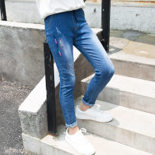все цены на 2019 New Teenager Girl Jeans Pants Spring Autumn Jeans Kids Clothing Children Denim Pants Casual Trousers For Girls Clothes 5-14 онлайн