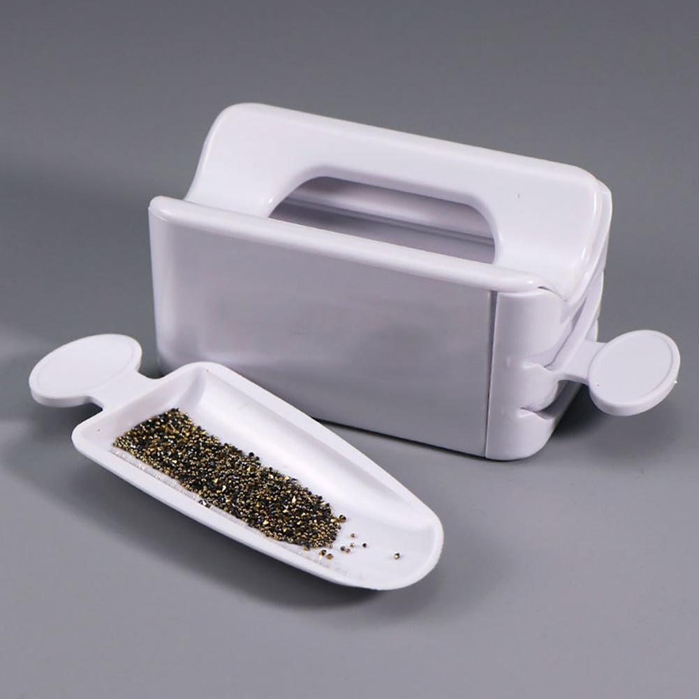 Plastic Storage Box Portable Dipping Powder Recycling Tray Nail Glitter Storage Box Manicure Tool