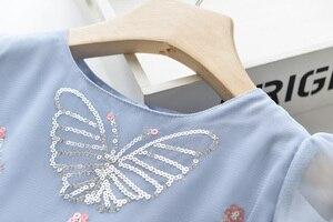 Image 3 - فستان للفتيات من LOVE DD & MM ملابس أطفال جديدة 2020 فستان الأميرة الشبكي المطرز على شكل فراشة حلوة للفتيات من 3 8 سنوات