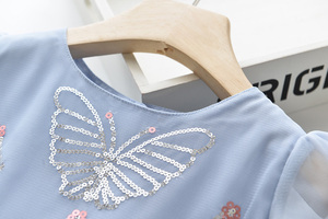 Image 3 - LOVE DD&MM Girls Dresses 2020 New Kids Clothing Sweet Butterfly Embroidered Sequins Mesh Princess Dress For Girl 3 8 Years