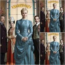 Cosplaydiy 19th век BBC The райские женские тафты винтажные костюмы Викторианский гражданская война платье L320