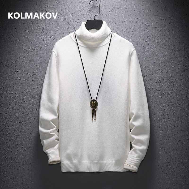 Cashmere Sweater Men Casual Fashion Men's Turtleneck Sweaters  High Quality Wool Pullover Men 7 Colours Size M-4XL,5XL