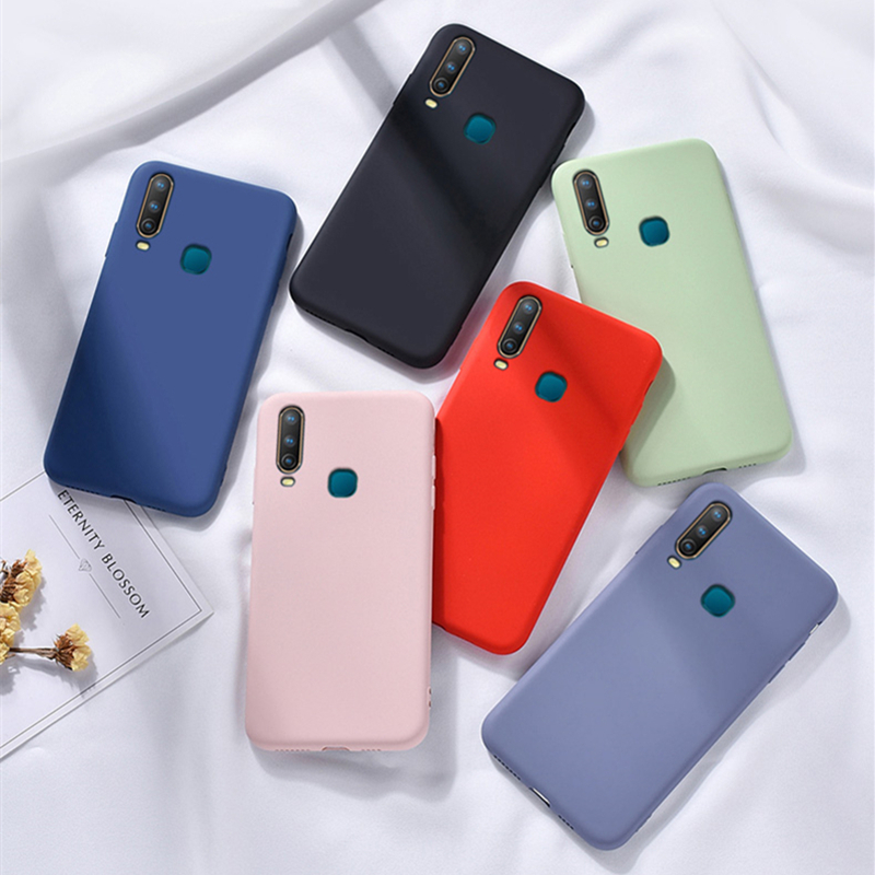 Candy TPU <font><b>Case</b></font> For <font><b>Vivo</b></font> Y17 <font><b>Case</b></font> Carbon Fiber SolidColor Liquid Phone <font><b>Case</b></font> For <font><b>Vivo</b></font> Y66 Y67 Y71 Y79 <font><b>Y83</b></font> Y93 Y97 Y3 Y15 Y12 Cover image
