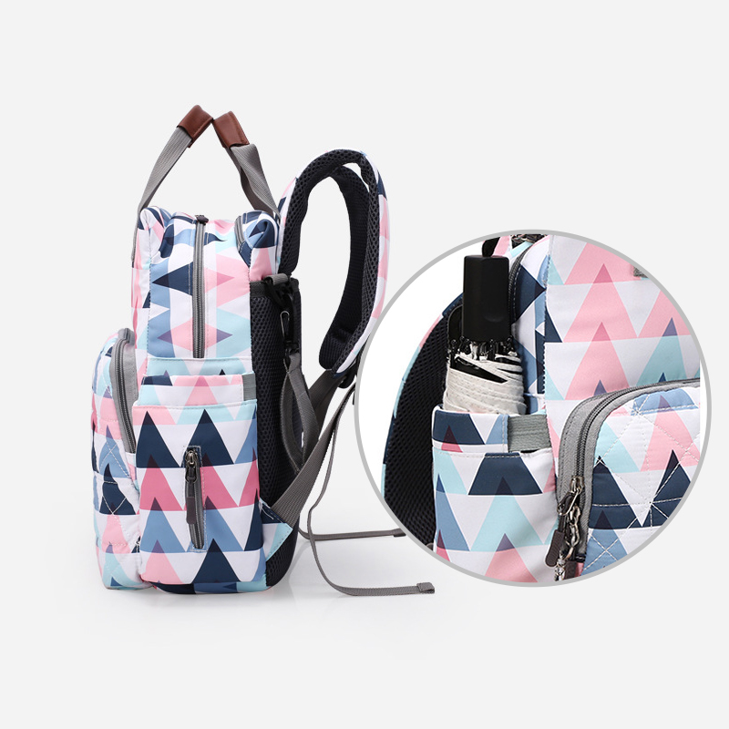 AAG 2Pcs/set Large Capacity Mummy Bags Backpack Baby Diaper Bags Mummy Maternity Bag Backpack for Daddy Baby Nappy Changing Bag