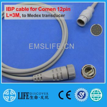 Comen C60 12pin IBP cable for Medex disposable pressure transducer image