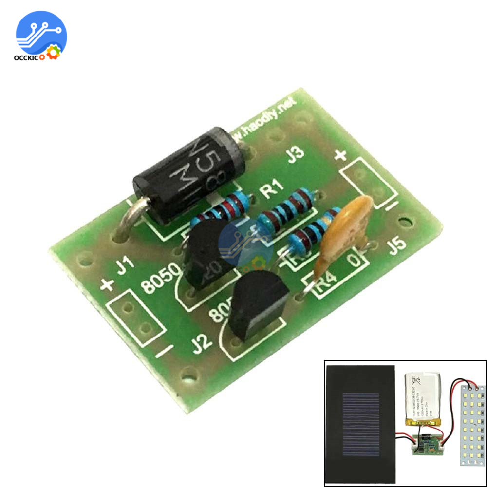 BMS 18650 Lithium Battery Charging Protection Board Light Control Sensor Module For Solar Chargr DIY Kit