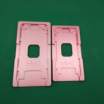 Moule en Aluminium pour iPhone 5/6/6S/7/8/8plus/X, plastifieuse, gabarit métallique uniquement pour la vitre avant avec emplacement du cadre, pour utilisation OCA