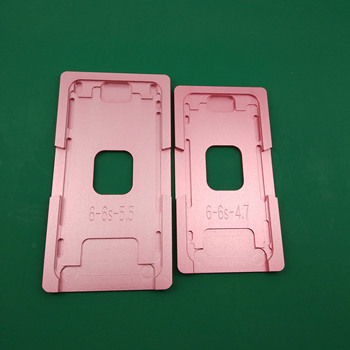 アルミ金型 iphone 5/6/6 S/7/8/8 プラス/X ラミネーター金型金属ジグ唯一のフロントガラスフレーム場所 OCA 使用