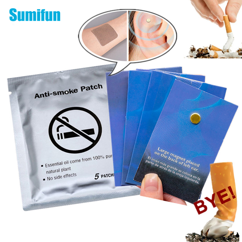 Для выведения токсинов, 40 шт Анти-дым патч и 20 штук бросить магнит курение ушной раковины прекращение здравоохранения курить Акупрессура па...
