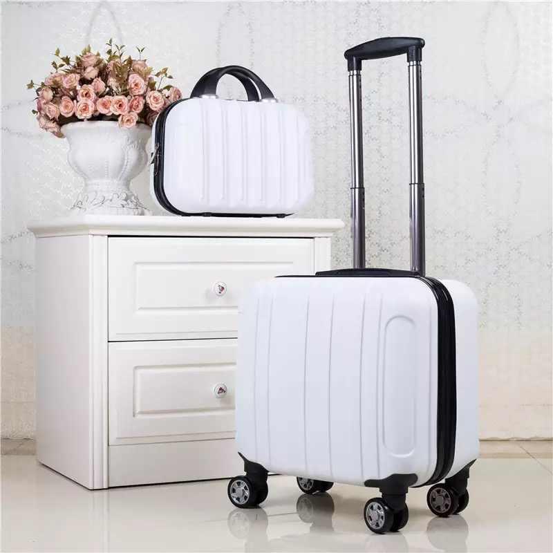 18 polegada viagem mala girador rodas carry on cabine rolando bagagem saco do trole caso estudante mala de bagagem conjunto moda