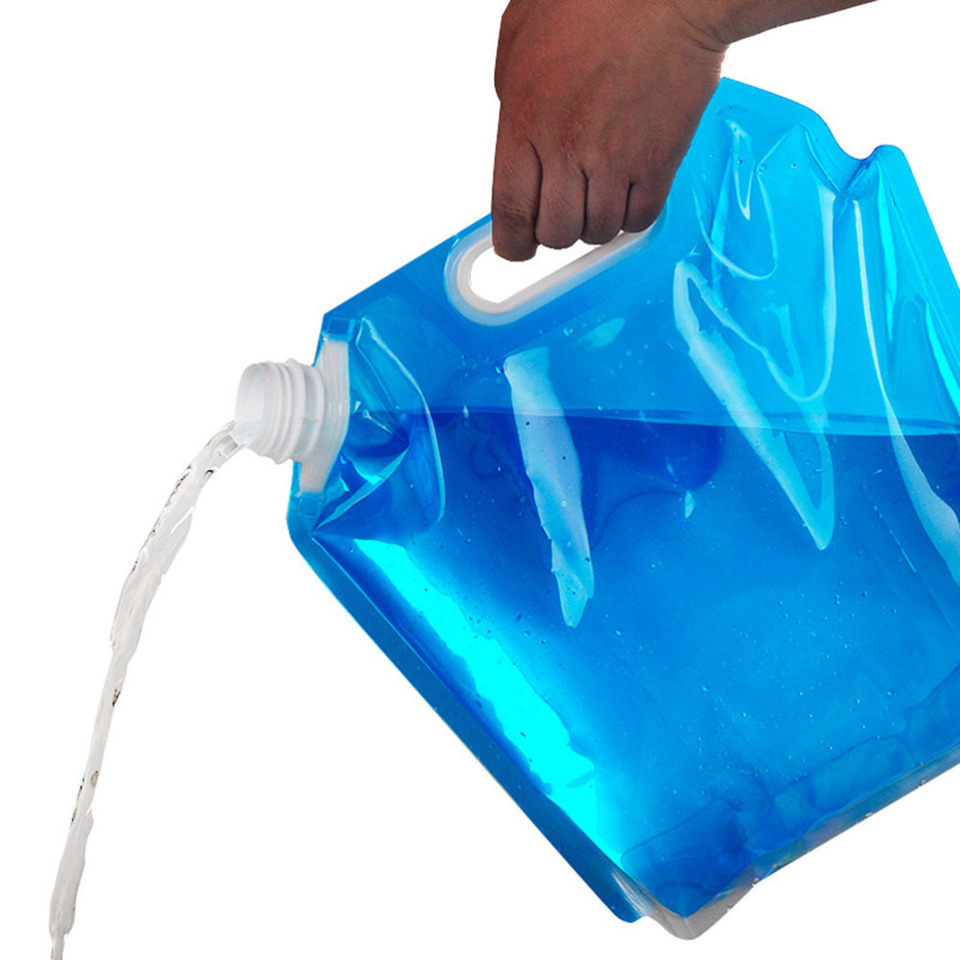 4pcs 5L Outdoor Water Bags Portable Water Container Large Capacity Food Grade