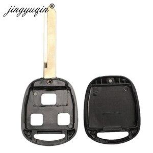 Image 4 - Jingyuqin 3 Tasten Auto Remote Key Fall + Taste Pad Für Toyota Avensis Corolla Yaris Rav4 key Fob Shell Abdeckung TOY43 TOY47 TOY48
