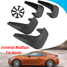 Universal car Mudflaps Fender Flap Set + Screws For Honda Brio DD1 DD2 Jazz HR-V A-ccord mudguard