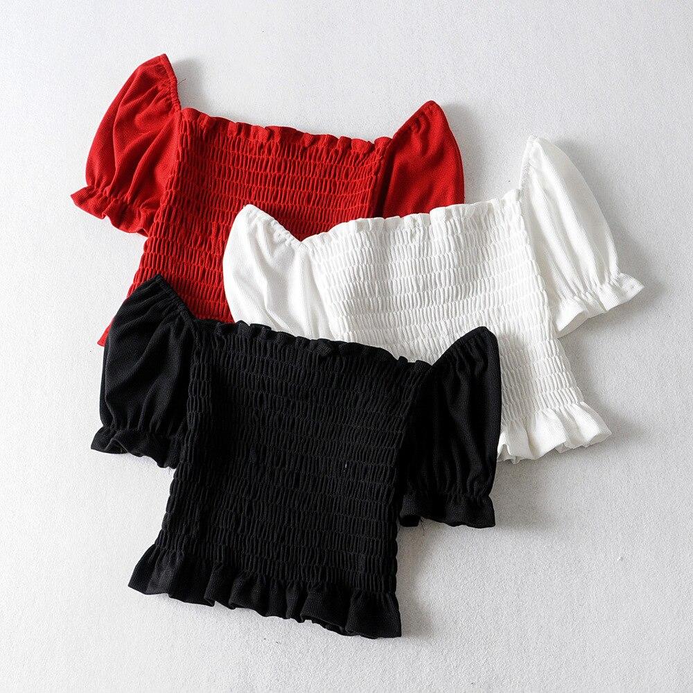 2020 Threaded Elastic Top  Vadiming Sheiner Zaraing Women Blouse Kimono