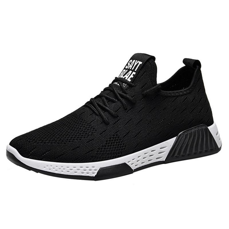 Men Breathable Sneakers No-slip Men Vulcanize Shoes Male Air Mesh Lace Up Wear-resistant Casual Shoes Tenisb  Masculino