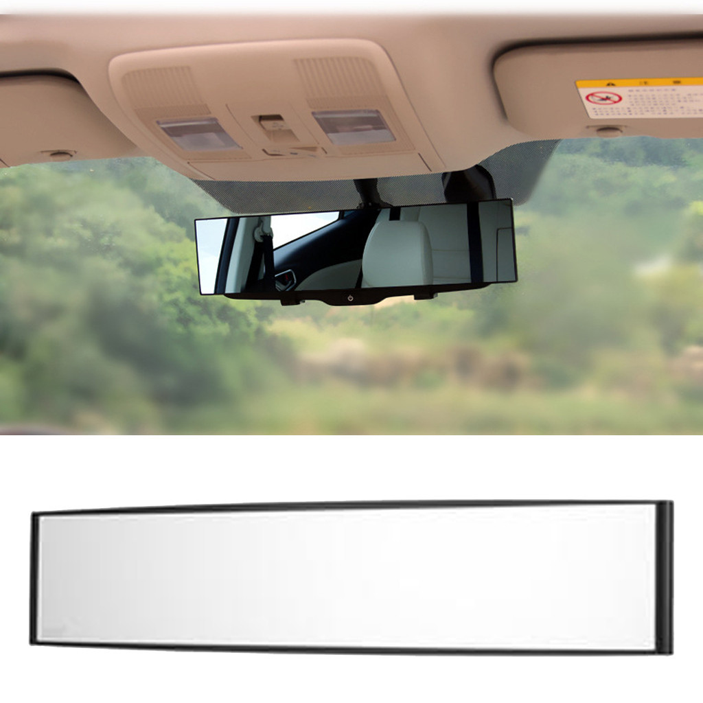 Rear-View-Mirror Wide-Angle 300mm Parking Car White 1PC Reference Auto-Reverse-Back Car-Styling