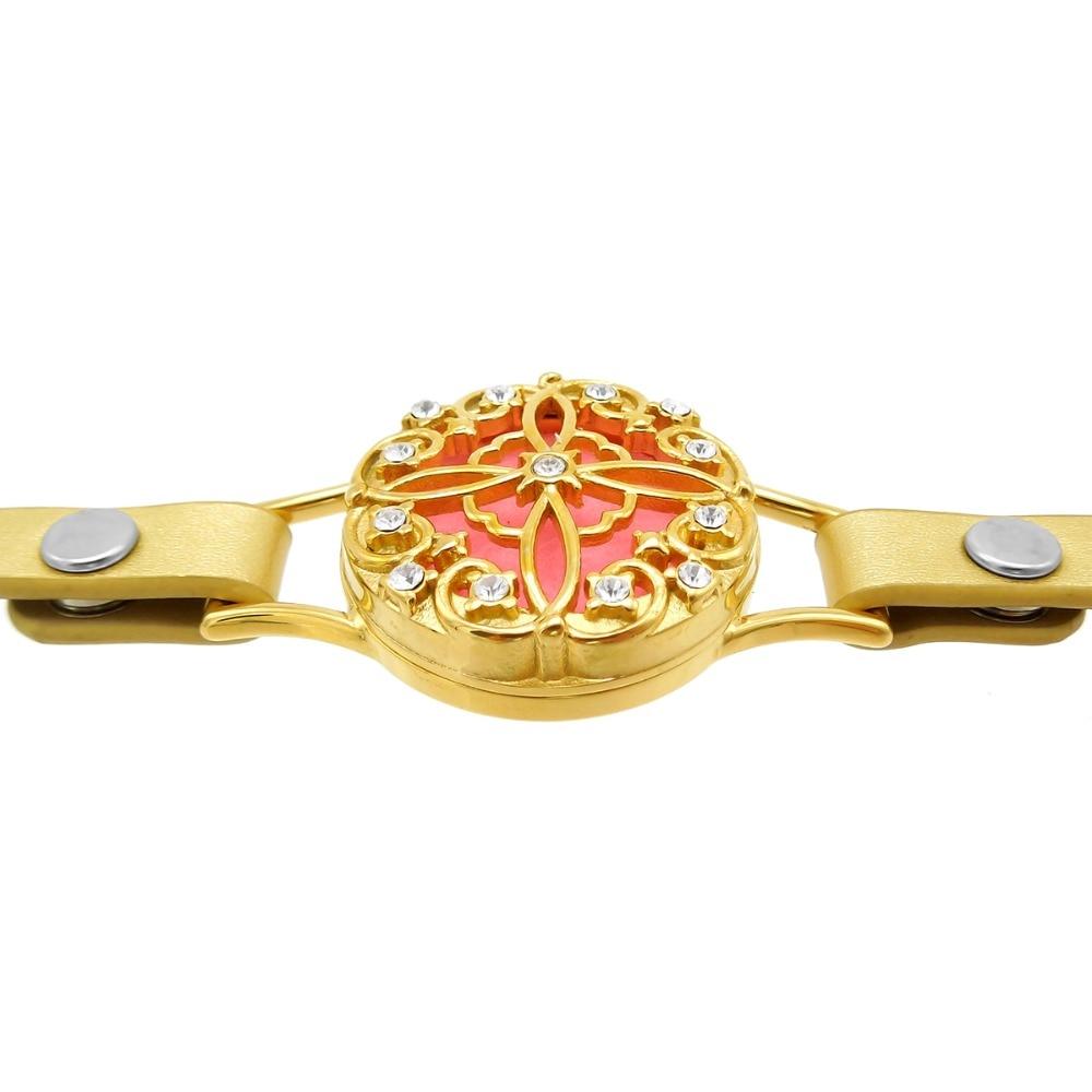 ZP-BS610-7 Diffuser Leather Locket Bracelet