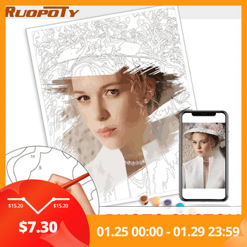 24/36 Color Personalised Paint By Numbers Photo Custom DIY Oil Painting By Number Picture Canvas Portrait Family Children Photo