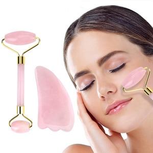 Rose Quartz Jade Roller Slimming Facial